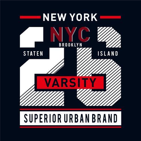 Grafische Kunst der New York City-Typografie