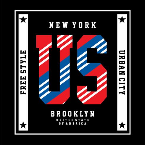 New york typography design vector illustration for t shirt