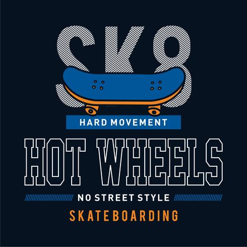 Skate boarding typography, tee shirt graphics