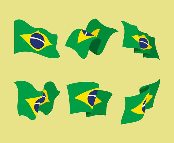 Conjunto de imágenes prediseñadas de la bandera de Brasil