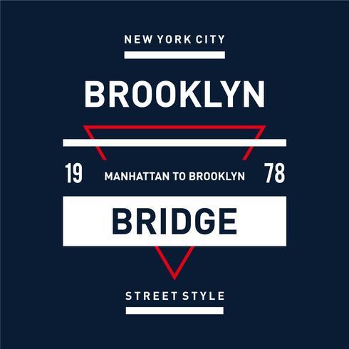straat stijl new york stad typografie ontwerp