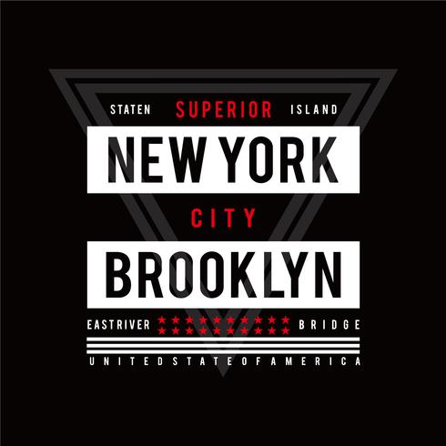 Typography Design New York City, Graphique t-shirt