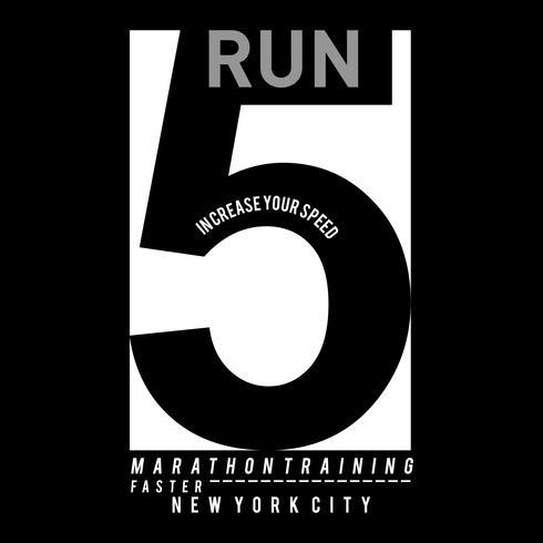 Vectorillustratie op een thema van uitvoeren en uitvoeren in New York City. Sport typografie