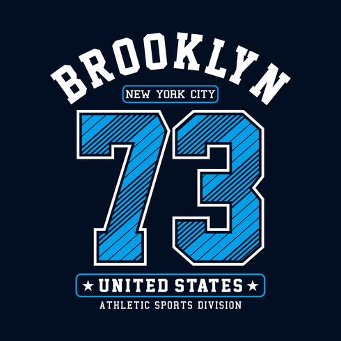 Athletic Brooklyn New York City typography design for t-shirt