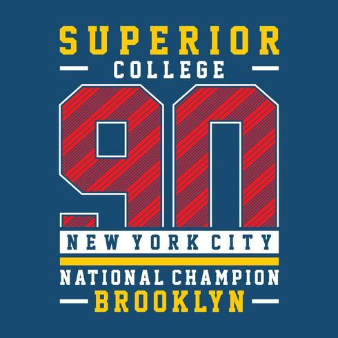 Brooklyn east coast, t-shirt print poster vector