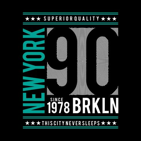 brooklyn typography design for t-shirt