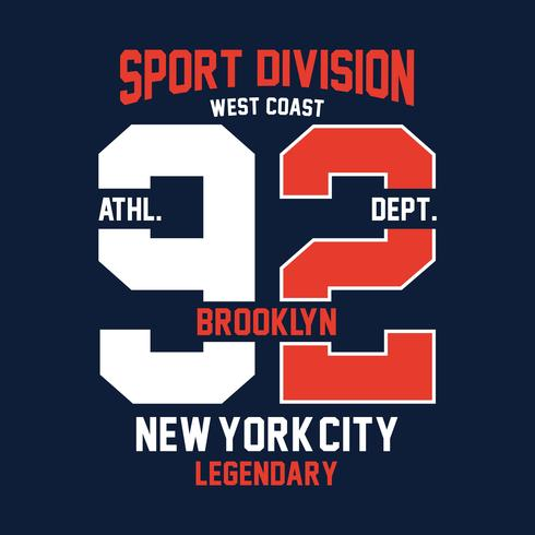 brooklyn west coast,print design for t-shirt and other uses