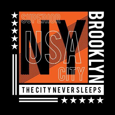 tipografía nueva york camiseta diseño gráfico
