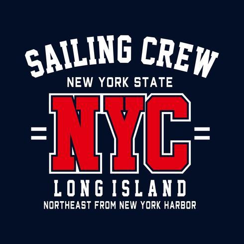 tipografia de esporte de new york city, gráficos de t-shirt