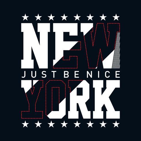 New York City typografi design för utslagsplats t-shirt