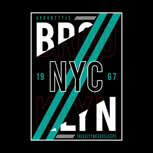 New York City Typografie Design T-Shirt Vektor