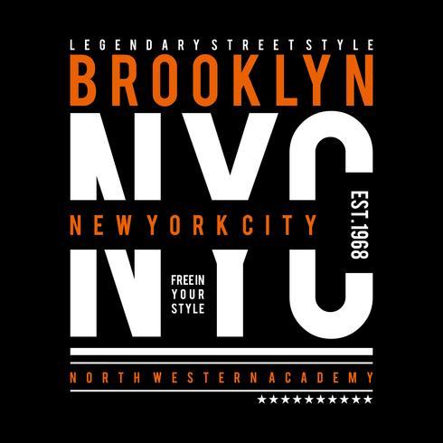 Brooklyn typografie, t-shirt design graphics