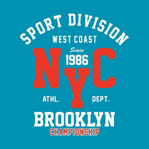 brooklyn champs print ontwerp voor t-shirt en ander gebruik