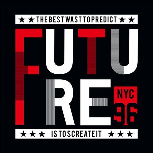 Ontwerp toekomstige varsity-verzameling met vosity-typografie