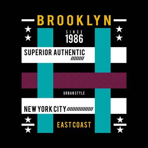 stile urbano di New York City, tipografia grafica della maglietta