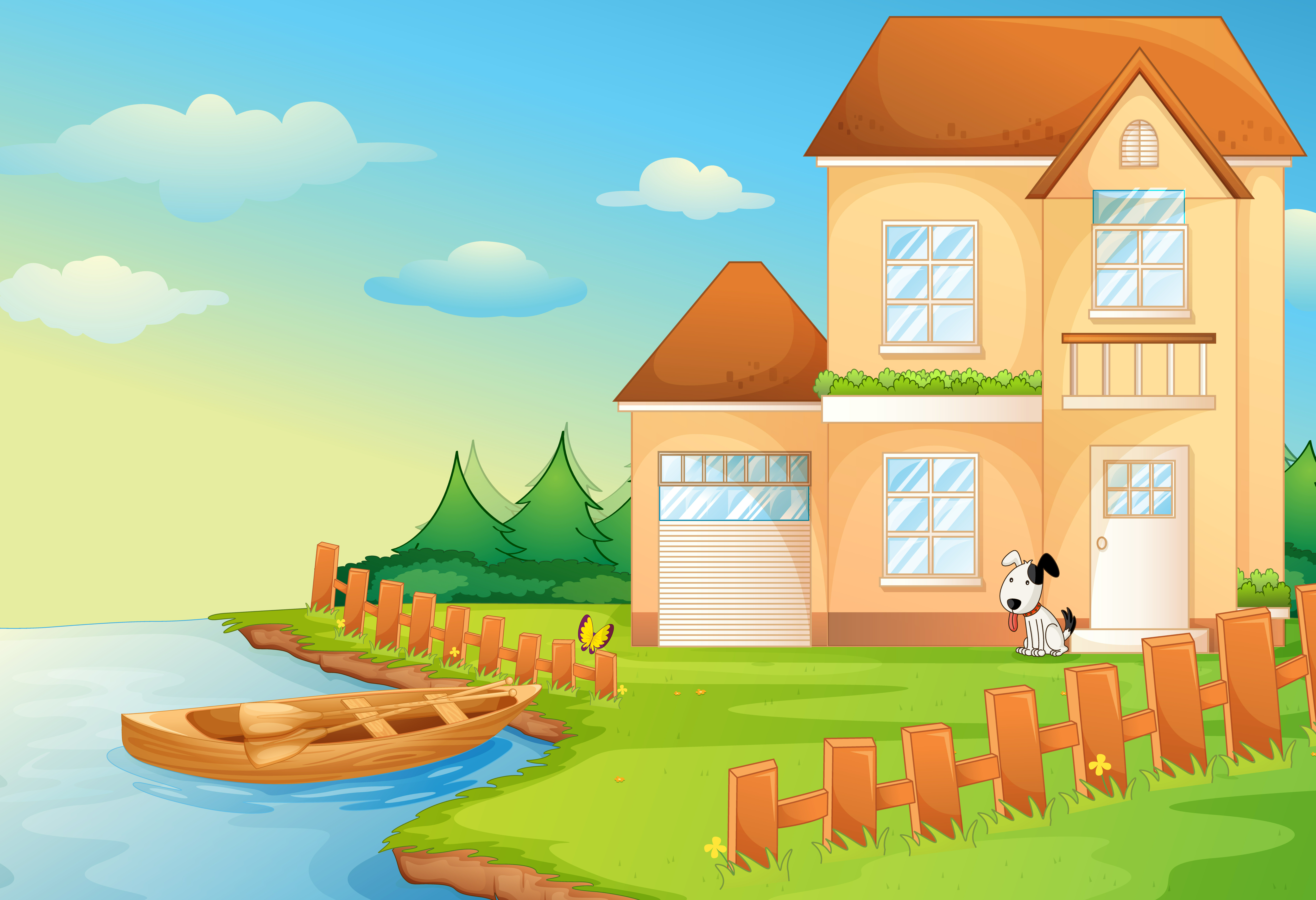 Lake house - Download Free Vectors, Clipart Graphics ...