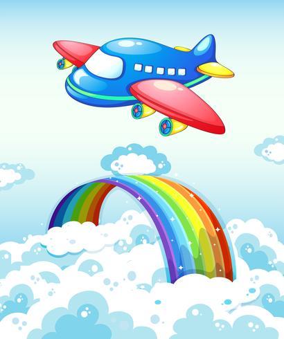 Flygplan och regnbåge