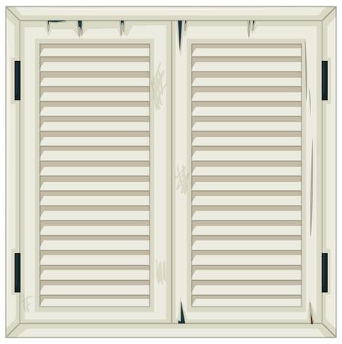Vieille fenêtre en bois peinte en blanc