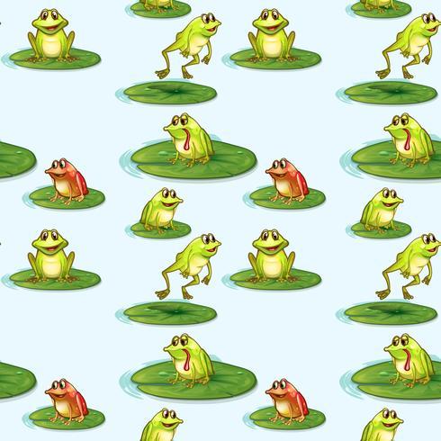 Seamless design av grodorna vid dammen