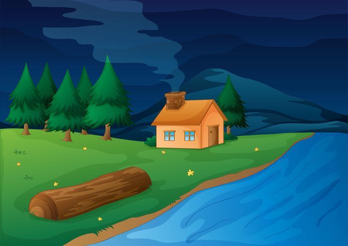 huis en rivier
