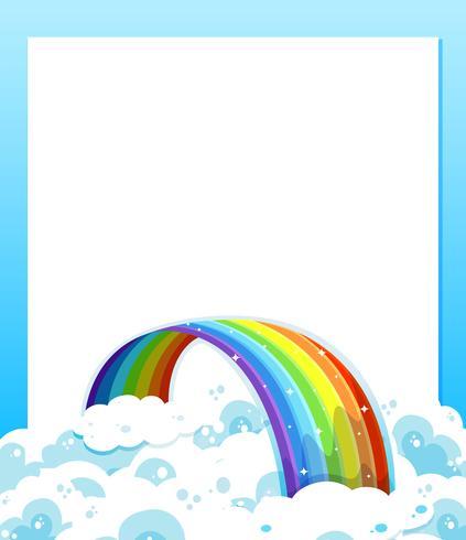 En tom pappersmall med en regnbåge i botten