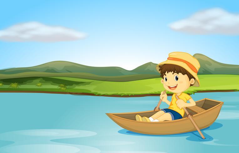 A rowing boy