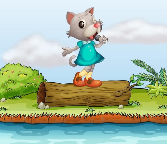 A female cat singing