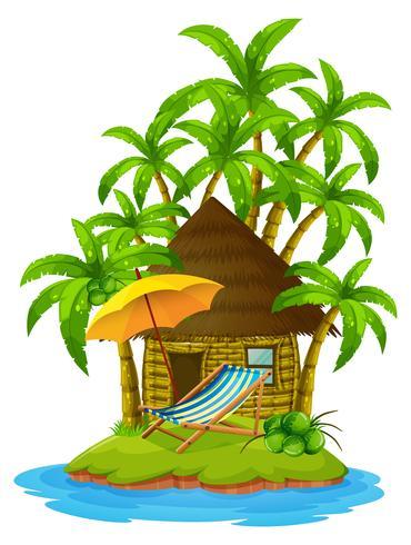 Huisje op privé-eiland