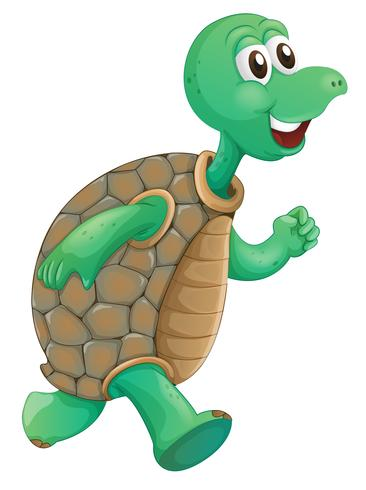 An old turtle running  vector
