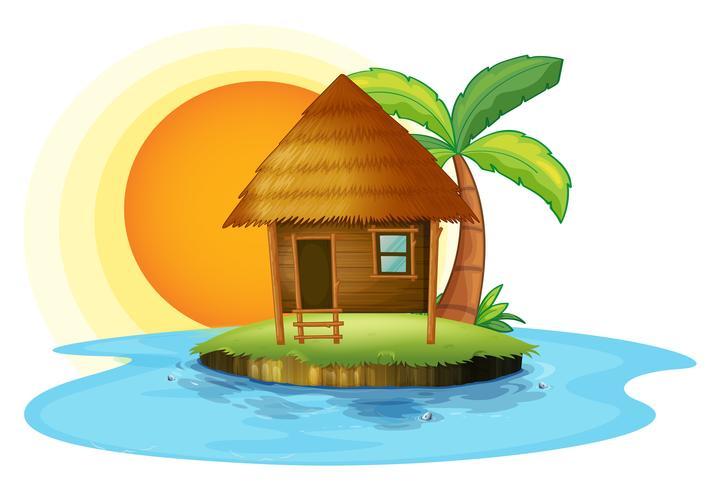 Un'isola con una piccola capanna