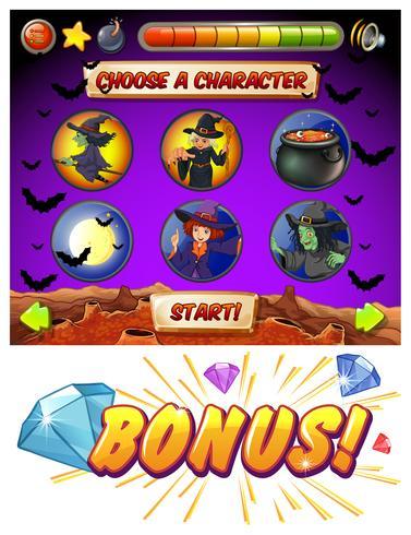 Modello di gioco con tema halloween