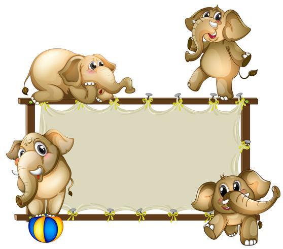 Elefant und Rahmen