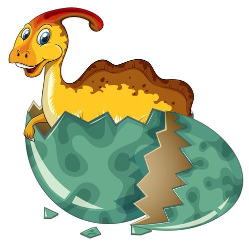 Dinosaur in grijs ei
