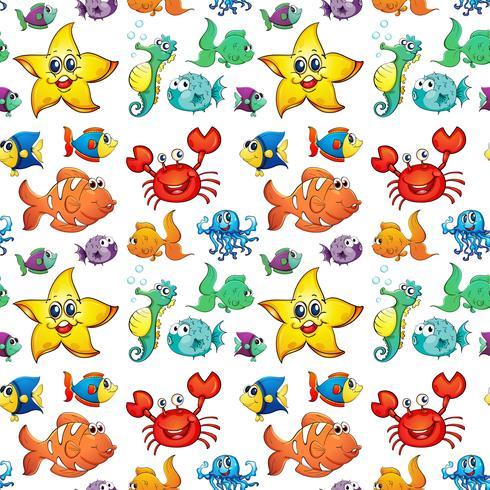 Design senza cuciture con creature marine