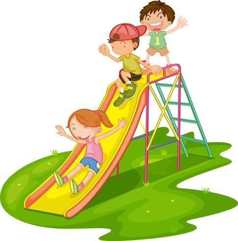 Kids at a park vector