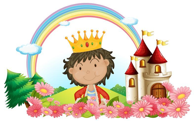 Ein König vor einer Burg