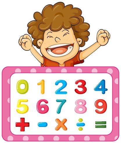 Teckensnittsdesign för siffror och tecken vektor