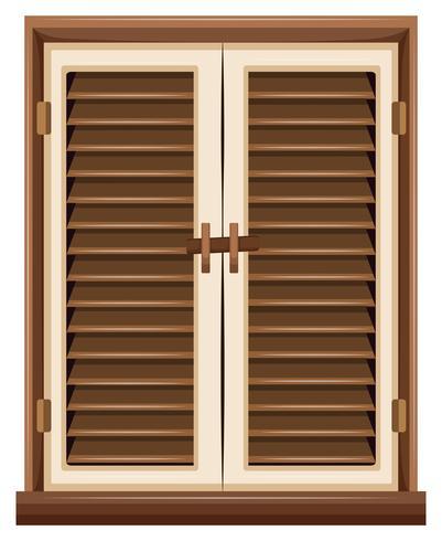 Design de fenêtre avec cadre marron