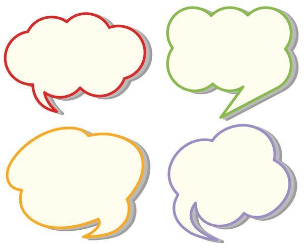 Four different cloud speech templates