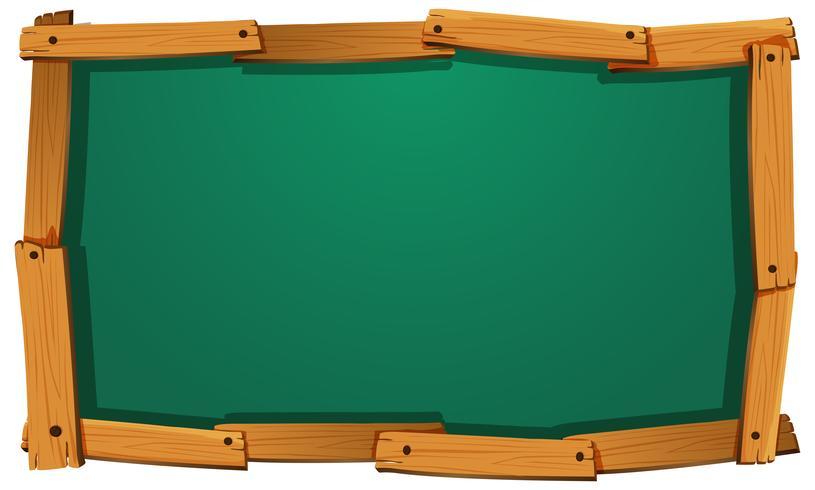Bord design avec cadre en bois