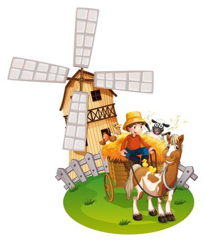 Farm boy vector