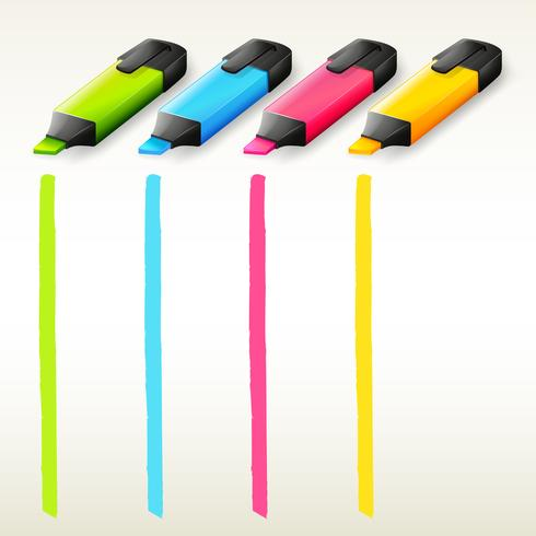Marcadores coloridos