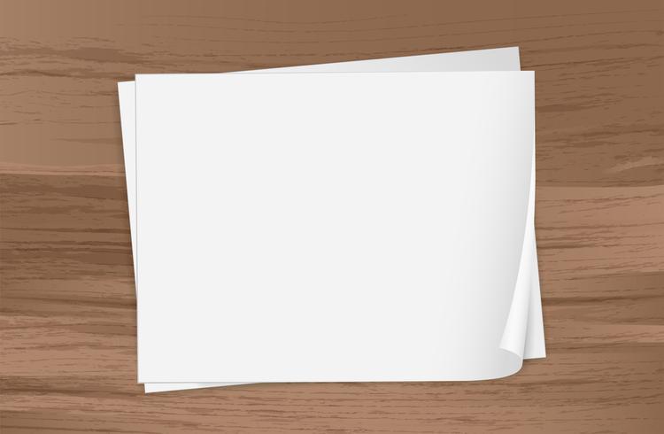 Två tomma papper