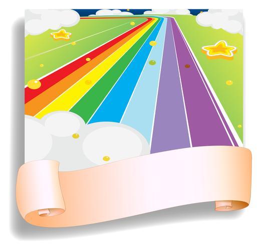 Un modèle vide devant la route colorée