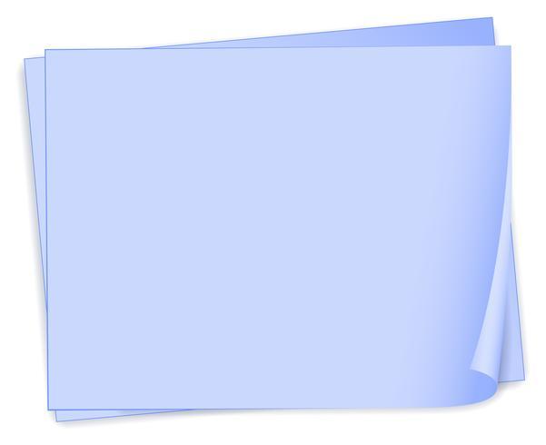 Empty bondpaper template vector