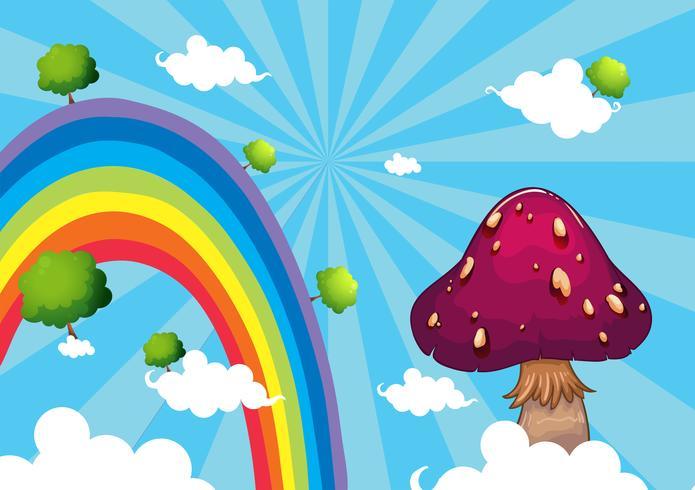 L'arc-en-ciel et le champignon géant