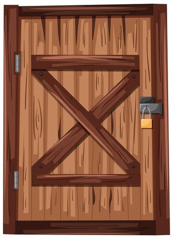 Porta in legno con lucchetto