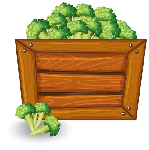 Broccoli su banner in legno