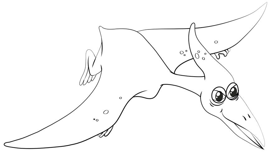 Contour animal pour ptérosaure