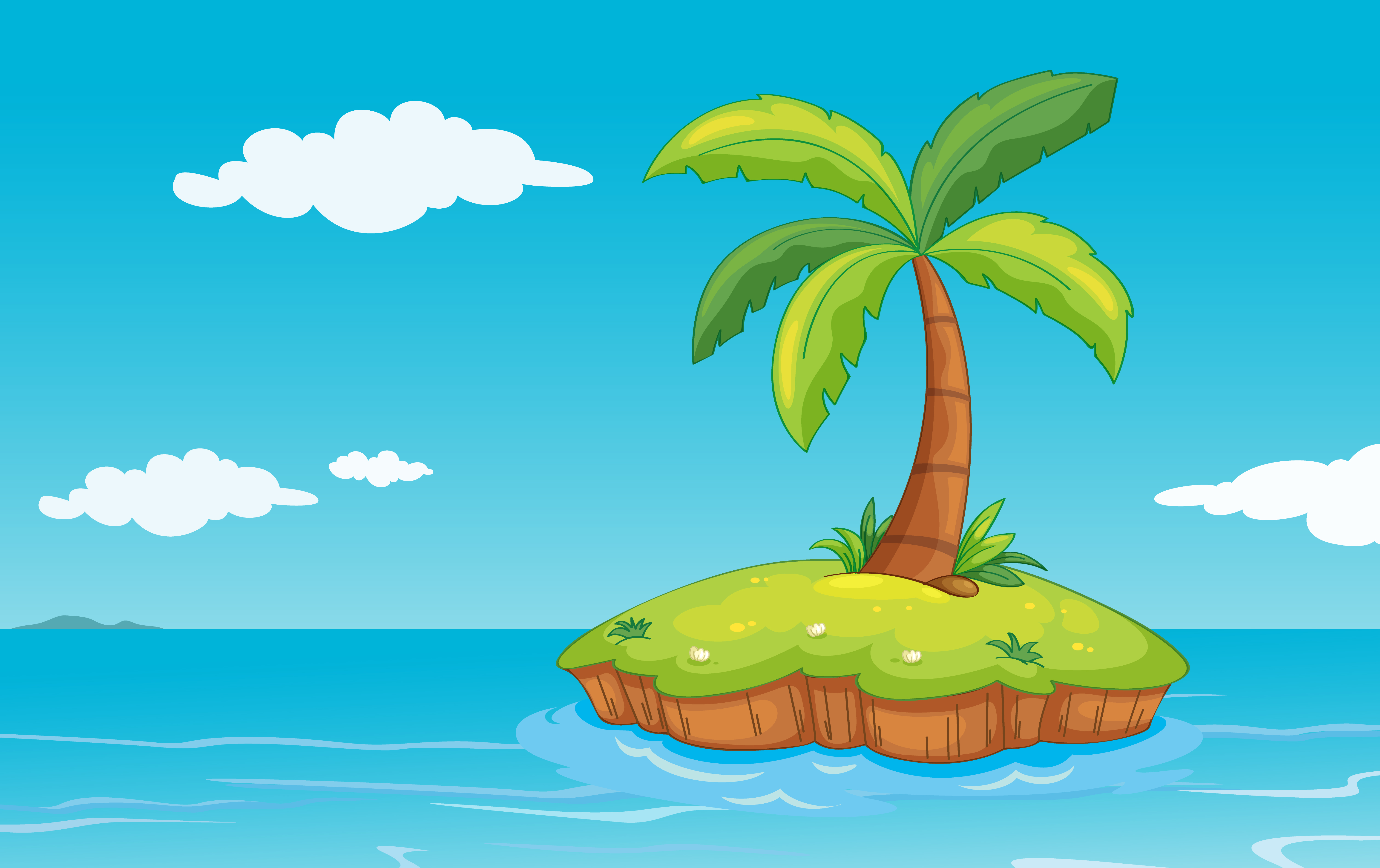 Palm Tree On Island Download Free Vectors Clipart